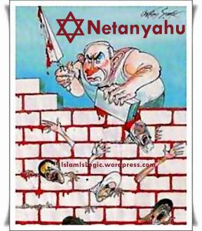 cartoon netanyahu-zionist-israel