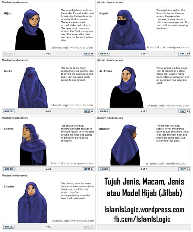 macam jenis jilbab kind