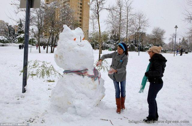 Salju 2013 di Arab 16
