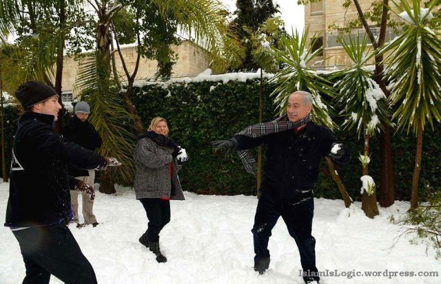 Salju 2013 di Arab 24
