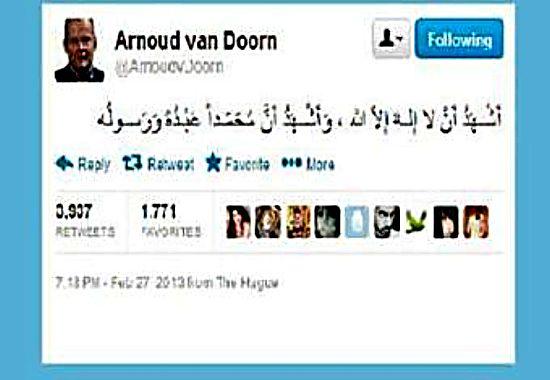 tweeter Ernaud van Dorn-01.03.22