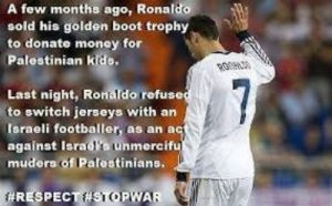 Cristiano ronaldo tolak jersey israel