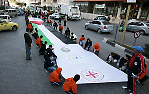 Umat Kristen Palestin dalam sebuah Parade Natal