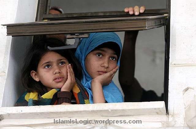anak merenung di gaza
