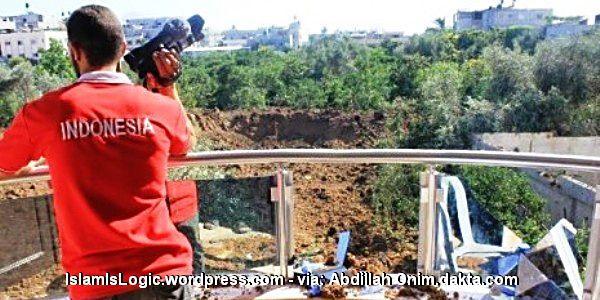 Graha Tahfiz Indonesia di Gaza Hancur dihantam rudak Israel(Foto: Abdillah Onim.dakta.com)