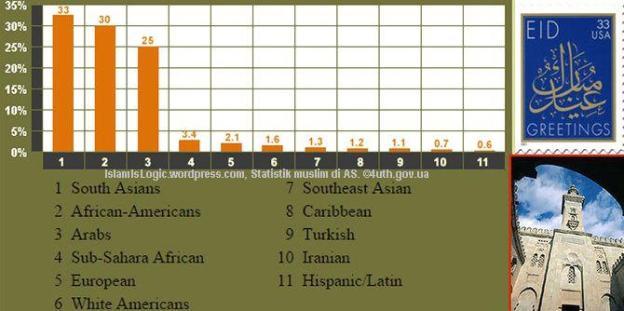 Statistik muslim di AS. ©4uth.gov.ua