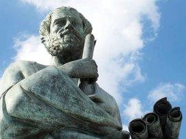Ilustrasi patung Aristoteles